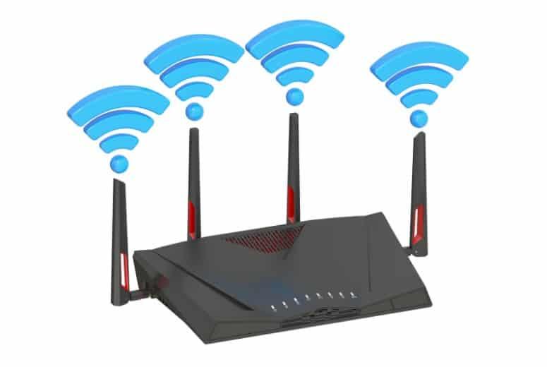 External antennas on a router