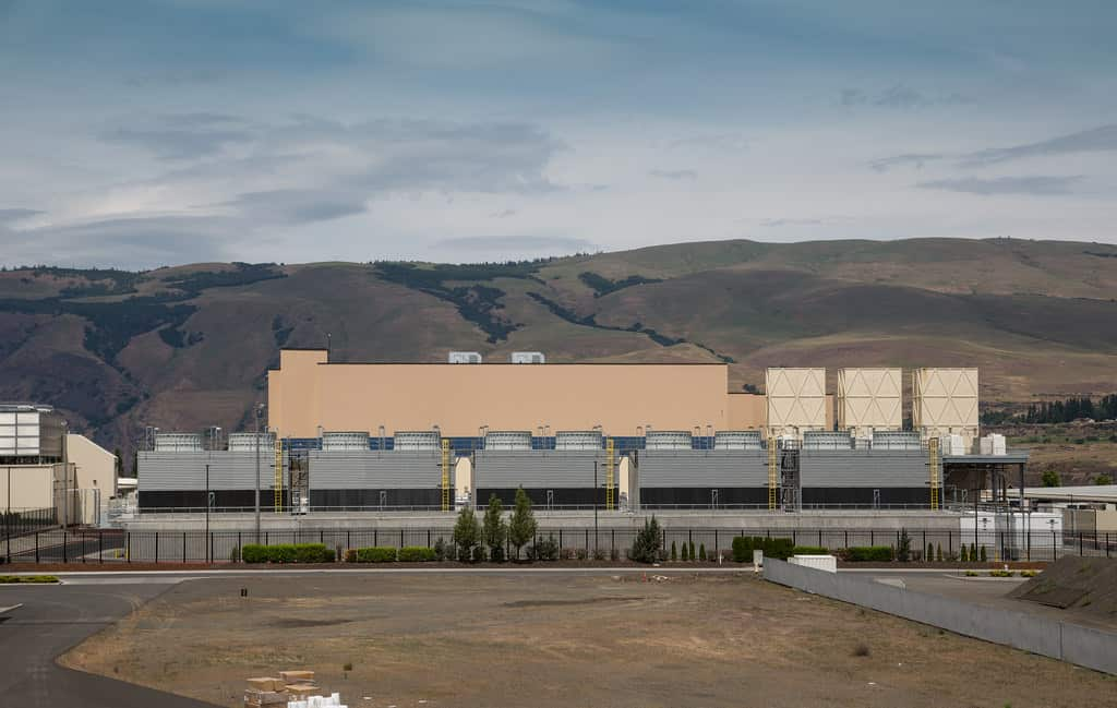 "Consumers rarely think about the physical networks driving the ""cloud."" Pictured is one of many Google data centers — this one in Dalles, OR."