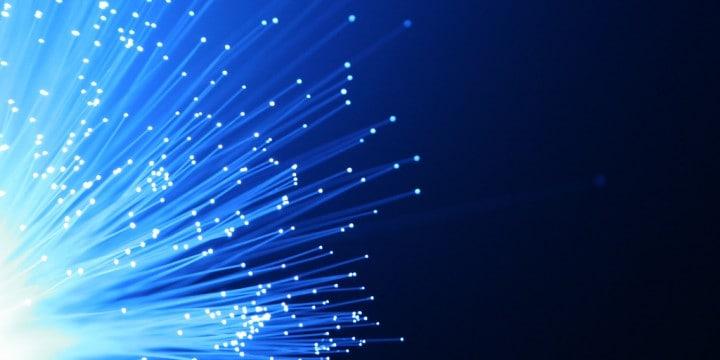 Lit up fiber optic cables