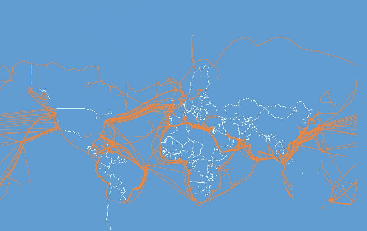 Fiber submarine map