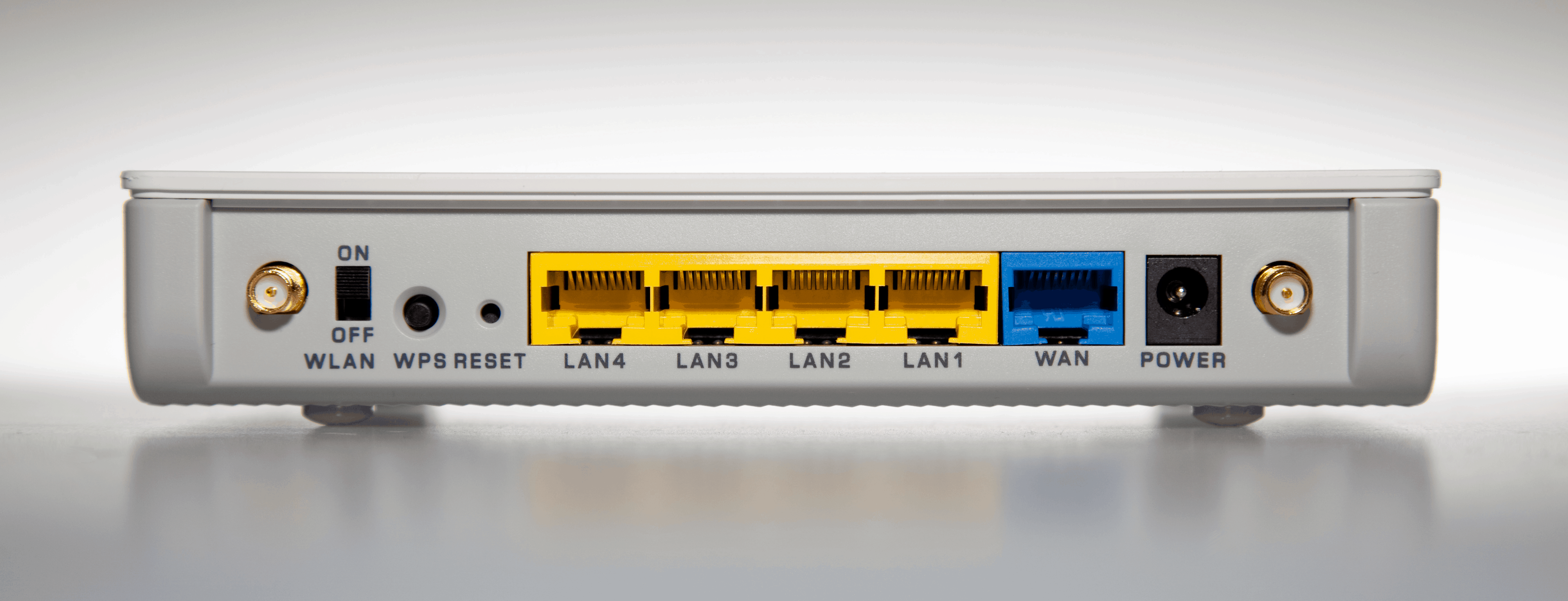 The back of your router should look something like this.