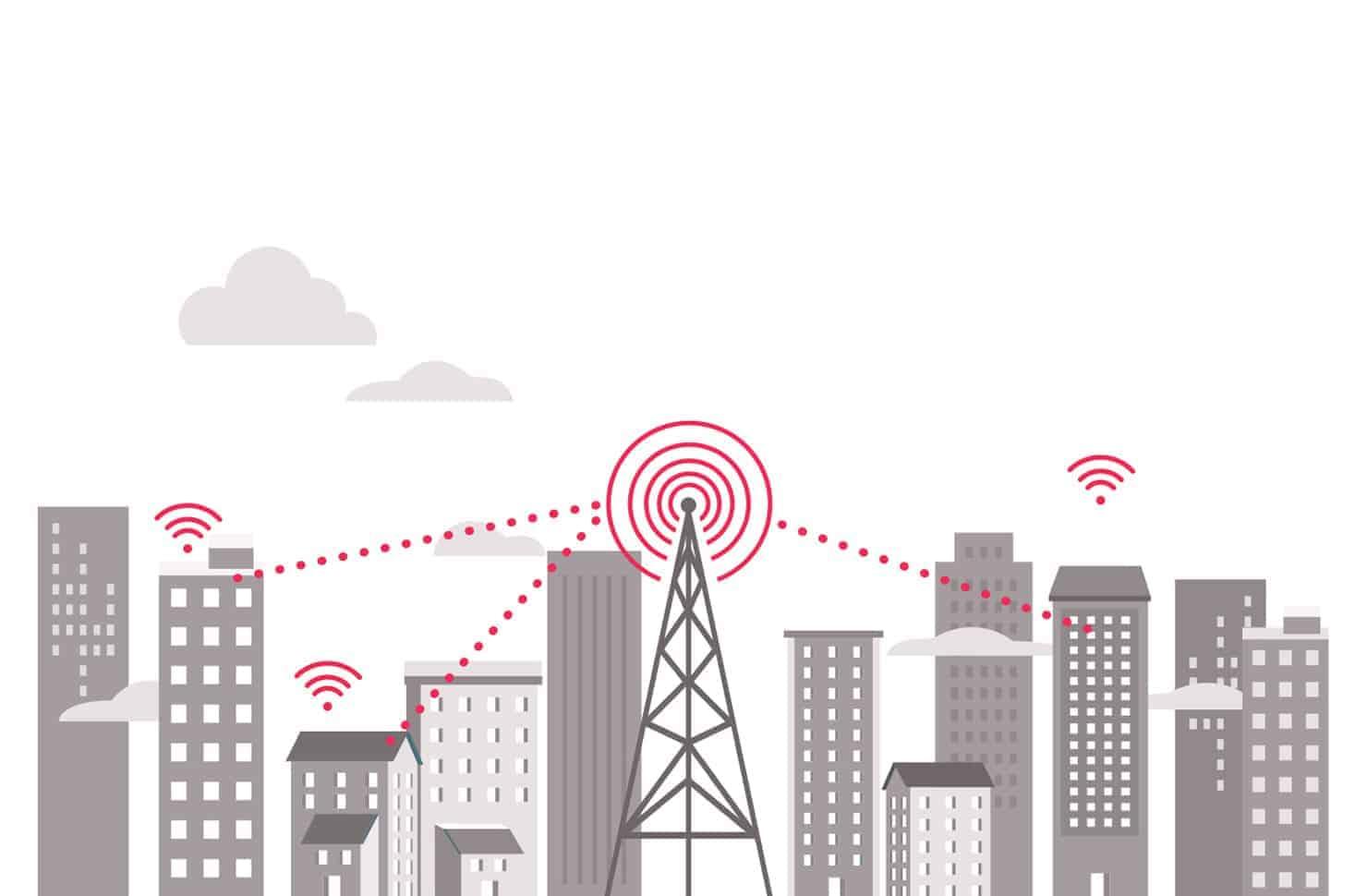 Fixed wireless in urban area.