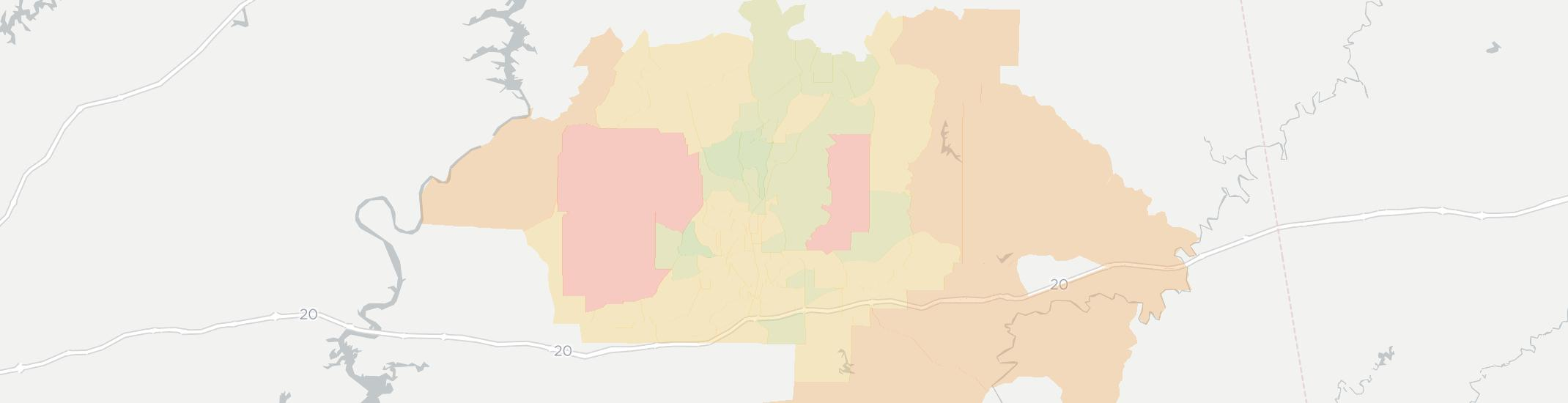 Anniston Internet Competition Map. Click for interactive map.