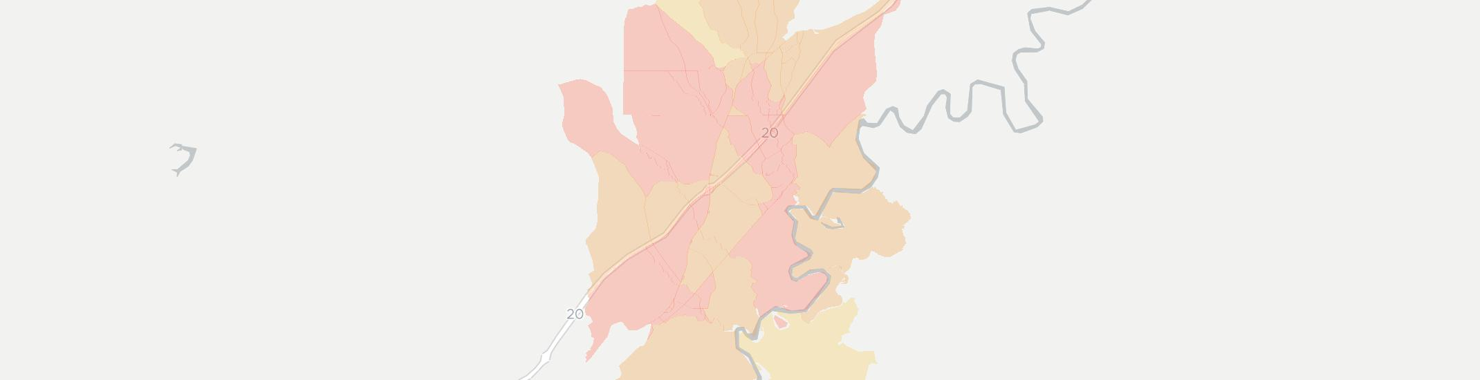 Knoxville Internet Competition Map. Click for interactive map.