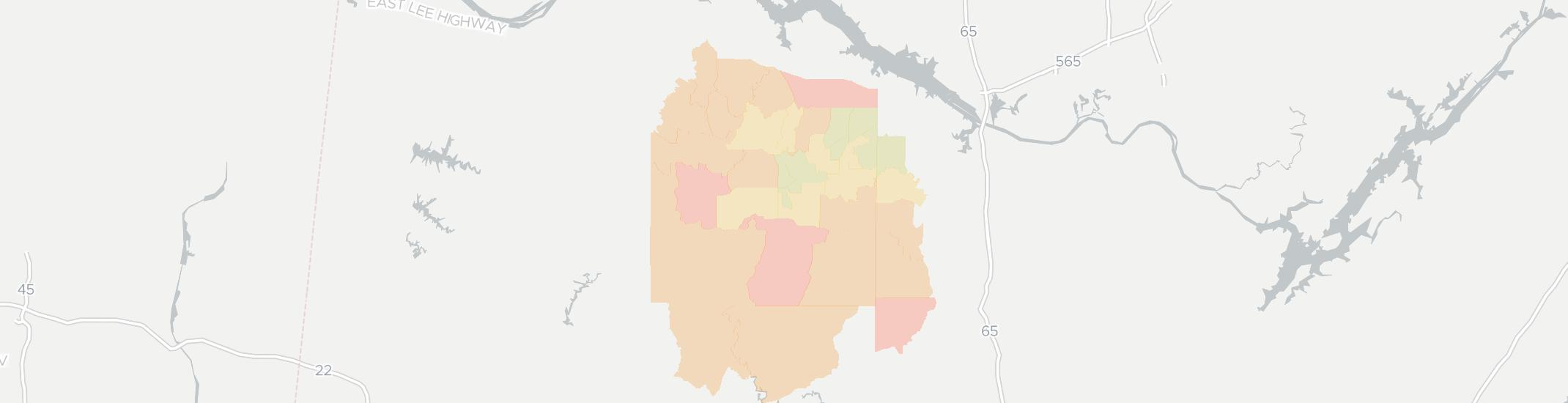 Moulton Internet Competition Map. Click for interactive map.