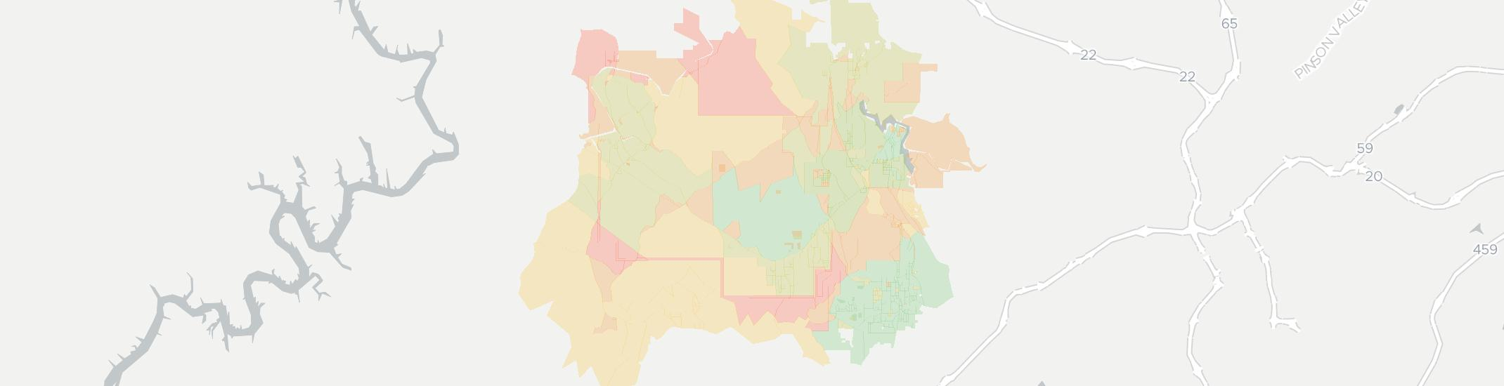 Mulga Internet Competition Map. Click for interactive map.