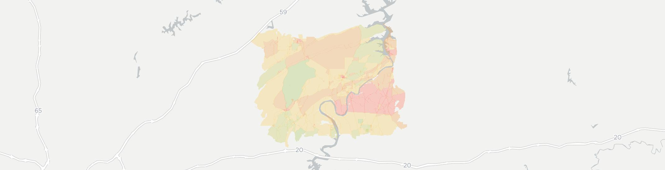 Ragland Internet Competition Map. Click for interactive map.