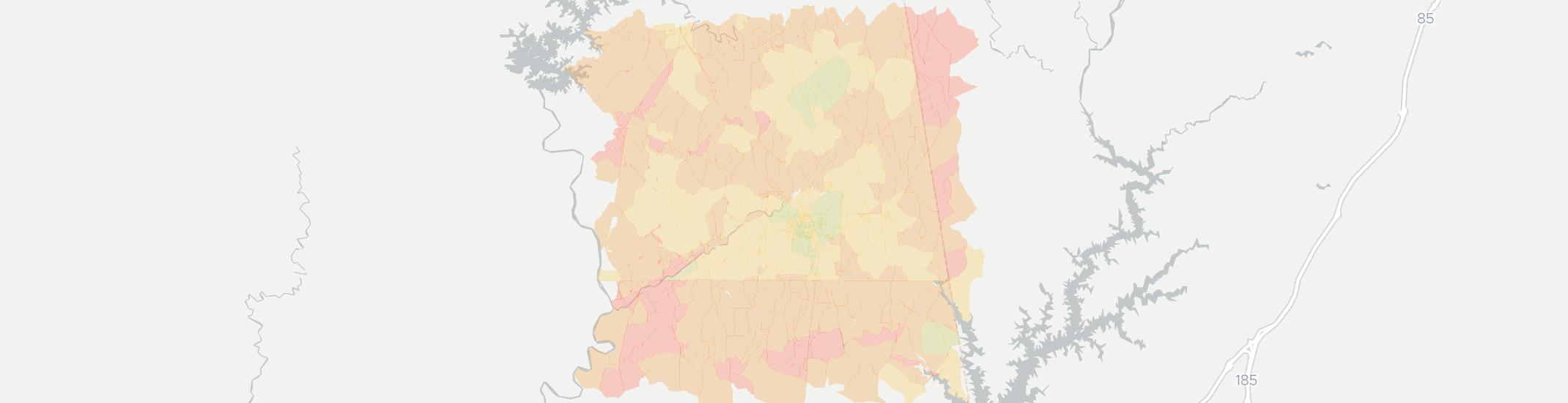Roanoke Internet Competition Map. Click for interactive map.