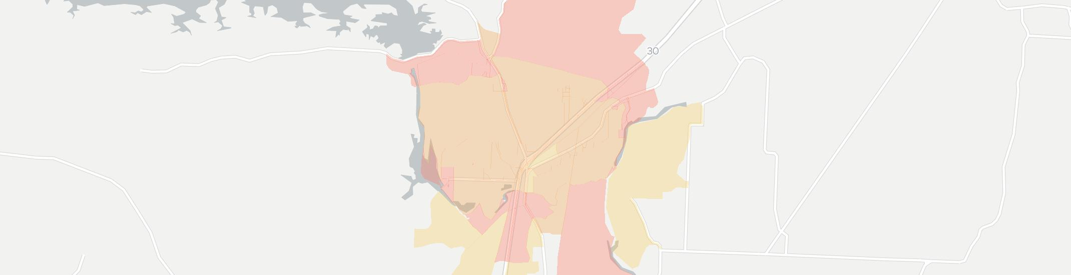 Caddo Valley Internet Competition Map. Click for interactive map.