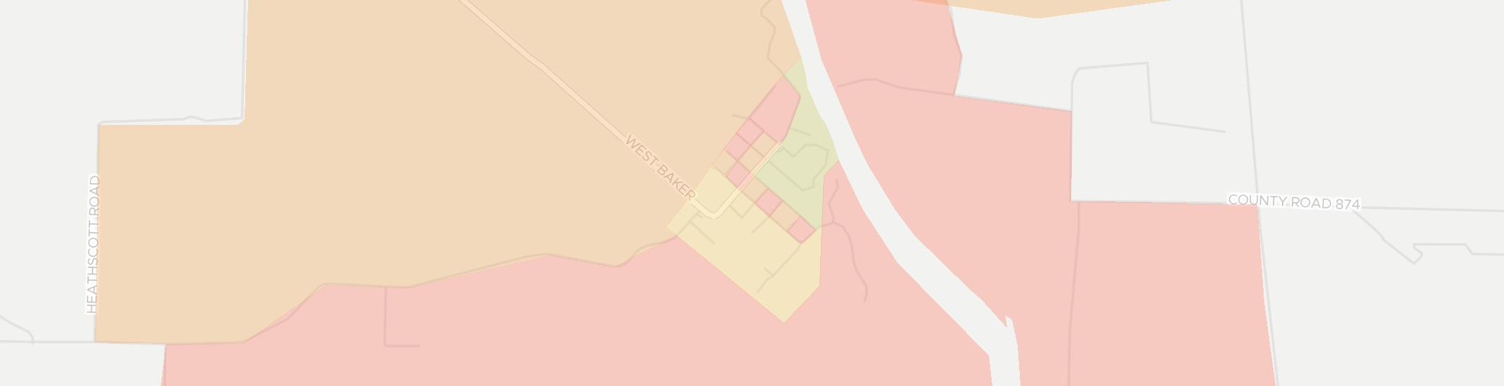 Georgetown Internet Competition Map. Click for interactive map.