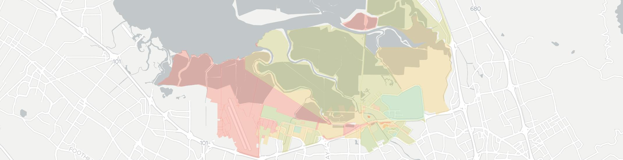 Alviso Internet Competition Map. Click for interactive map.