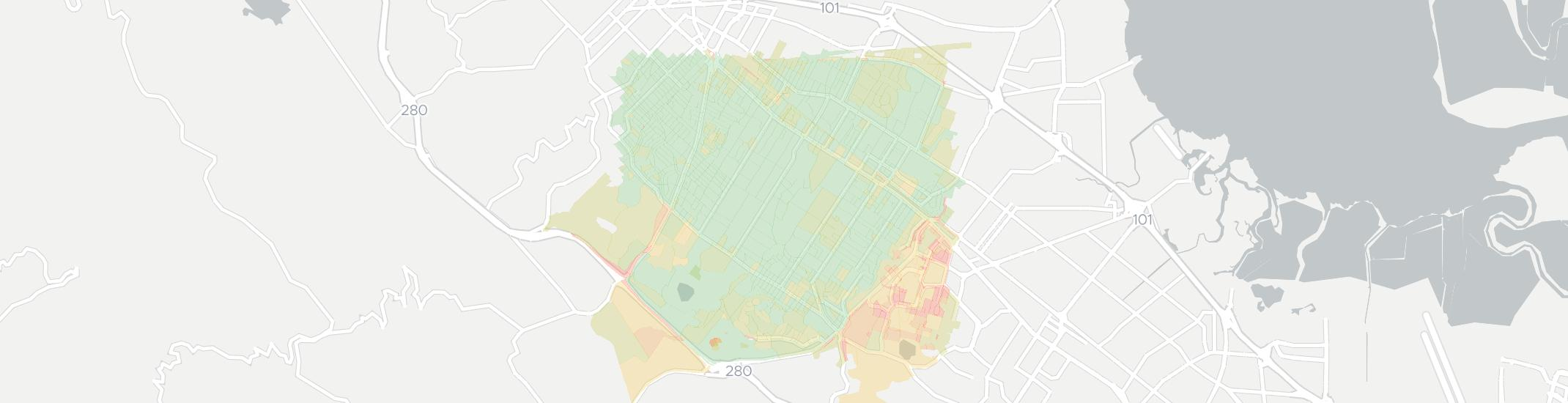 Atherton Internet Competition Map. Click for interactive map.
