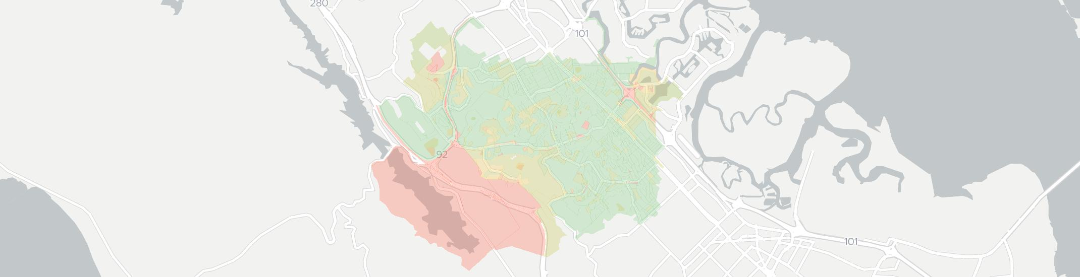 Belmont Internet Competition Map. Click for interactive map.