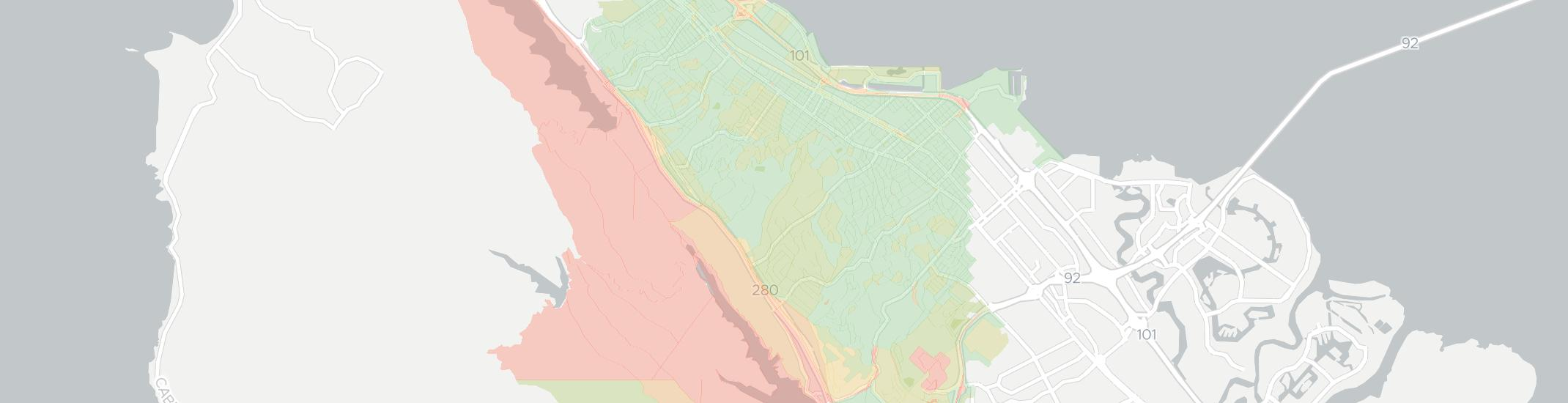 Burlingame Internet Competition Map. Click for interactive map.