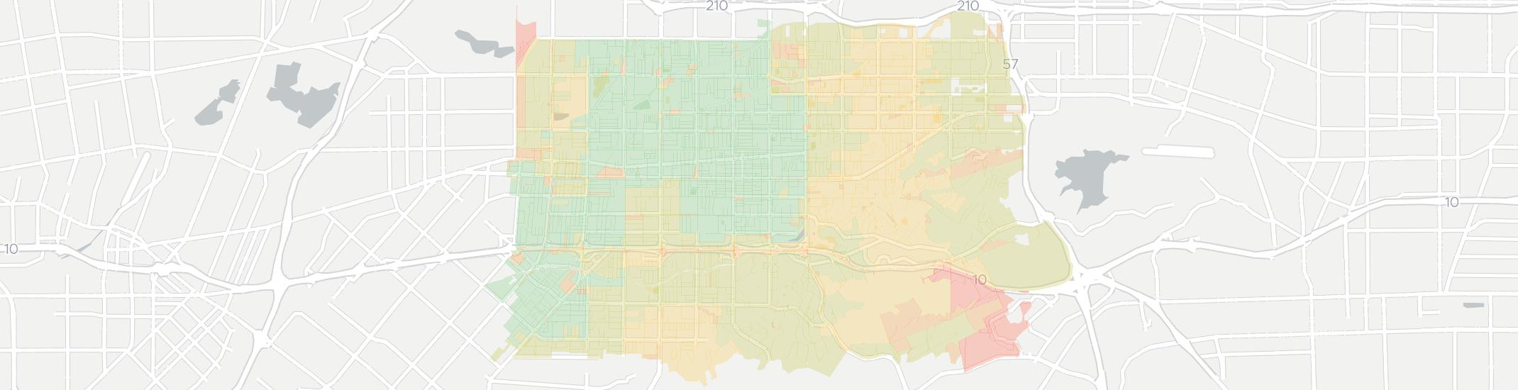 Covina Internet Competition Map. Click for interactive map.
