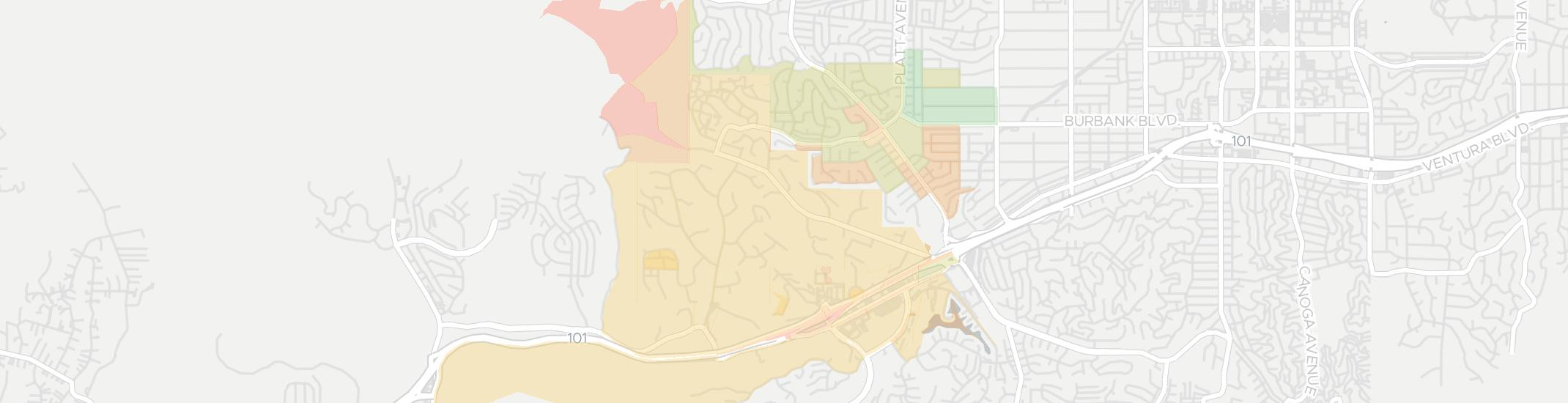 Hidden Hills Internet Competition Map. Click for interactive map.
