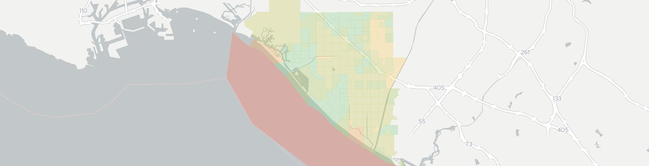 Huntington Beach Internet Competition Map. Click for interactive map.