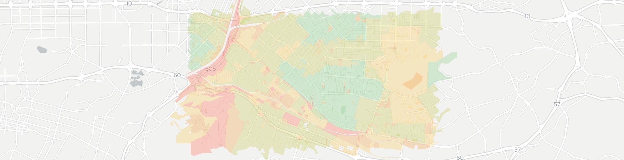 La Puente Zip Code Map.Internet Providers In La Puente Compare 17 Providers
