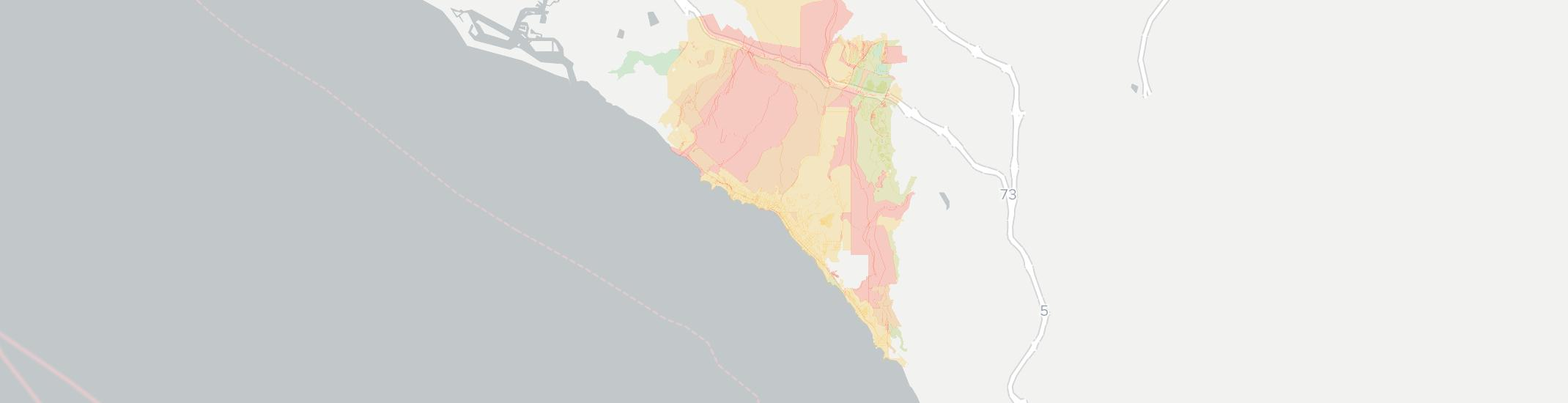 Laguna Beach Internet Competition Map. Click for interactive map.