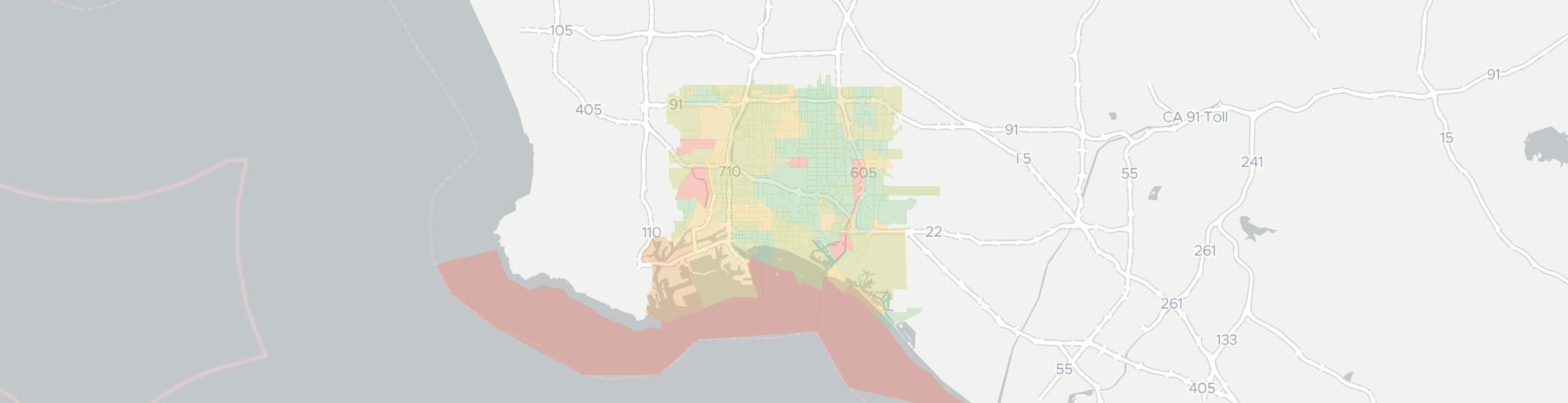 90804 Zip Code Map.Long Beach Has 22 Internet Service Providers Up To 400 Mbps
