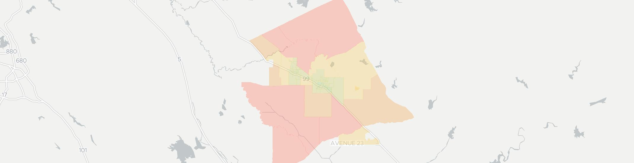 Merced Internet Competition Map. Click for interactive map.