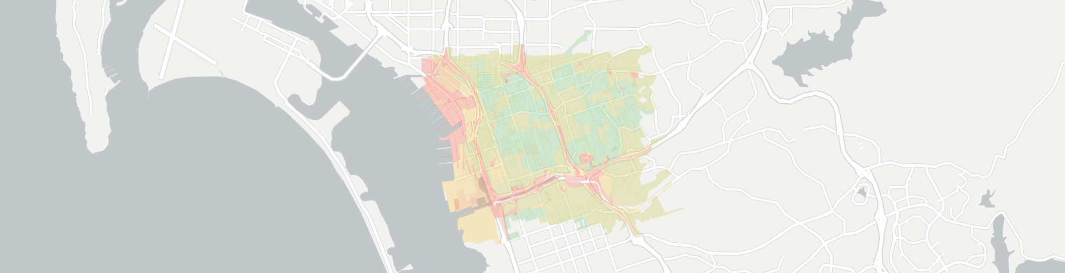 National City Internet Competition Map. Click for interactive map.