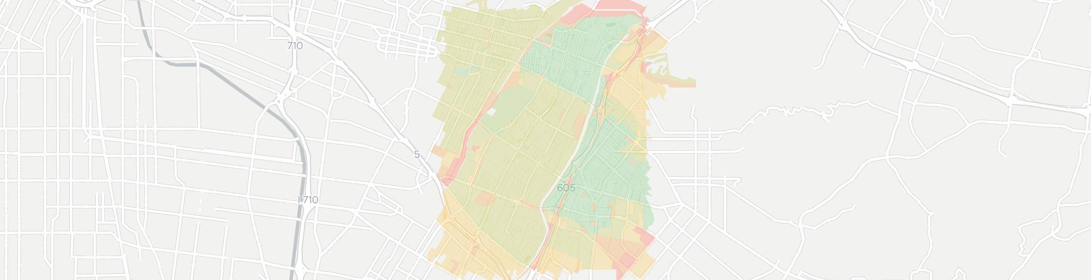 Pico Rivera Zip Code Map.Internet Providers In Pico Rivera Compare 16 Providers
