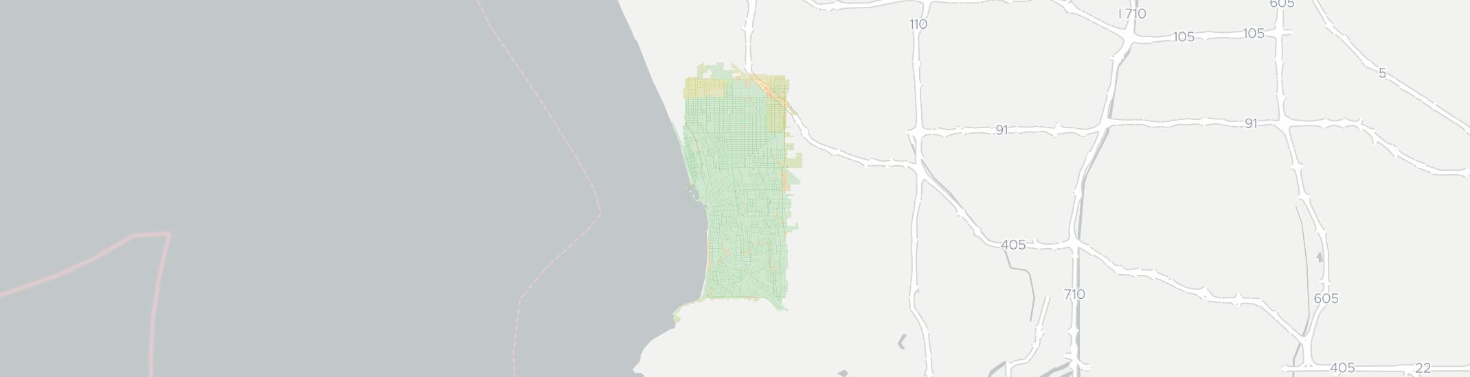 Redondo Beach Internet Competition Map. Click for interactive map.
