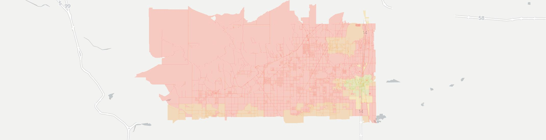Rosamond Internet Competition Map. Click for interactive map.