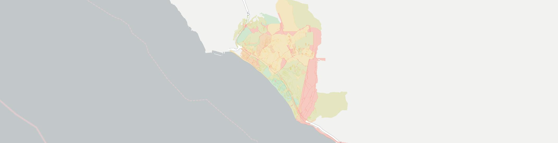 San Clemente Internet Competition Map. Click for interactive map.