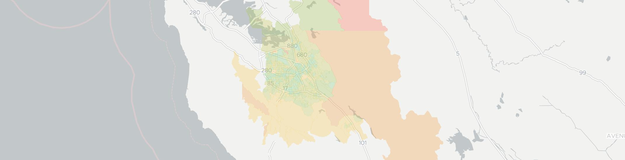 San Jose Internet Competition Map. Click for interactive map.