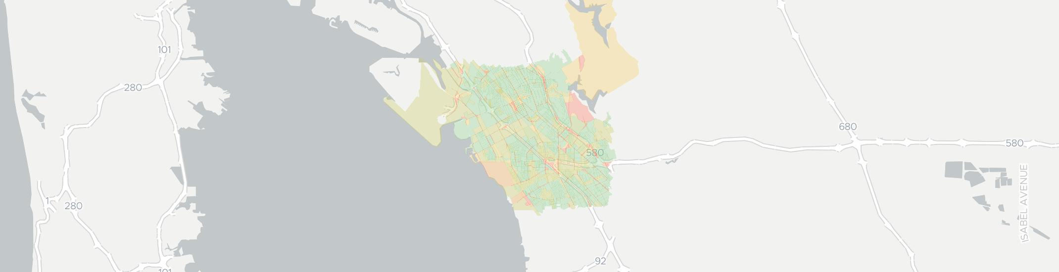 San Leandro Internet Competition Map. Click for interactive map.