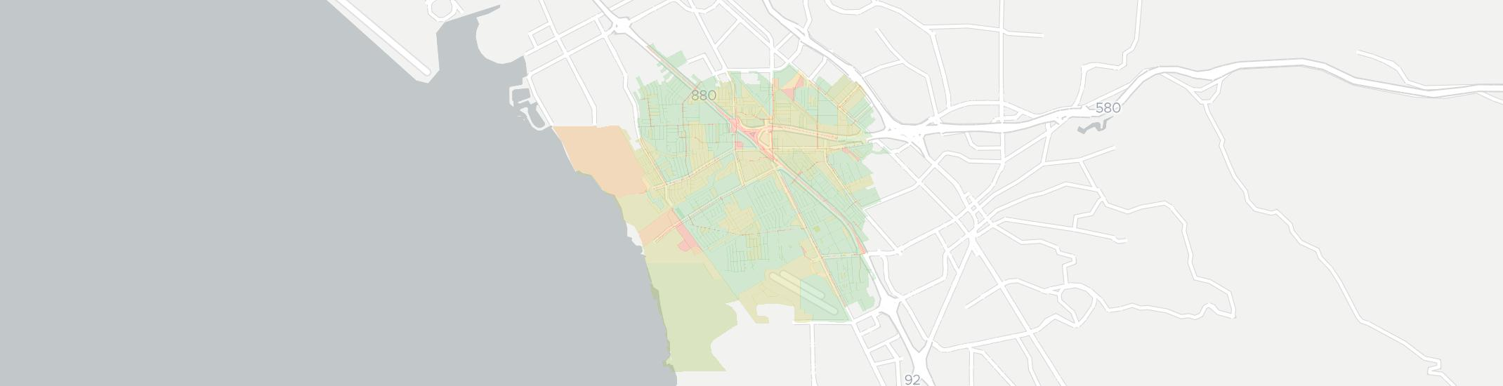 San Lorenzo Internet Competition Map. Click for interactive map.