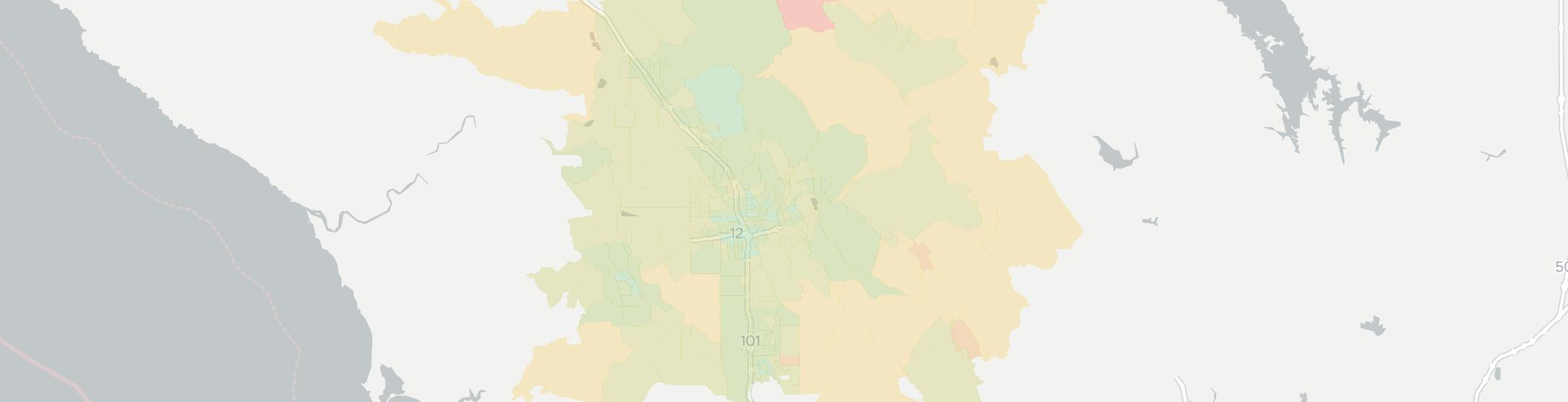 Santa Rosa Internet Competition Map. Click for interactive map.