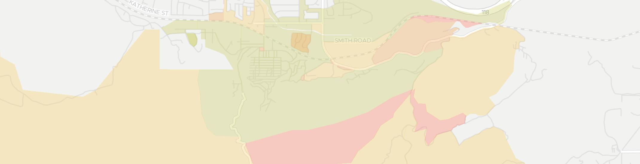 Santa Susana Internet Competition Map. Click for interactive map.