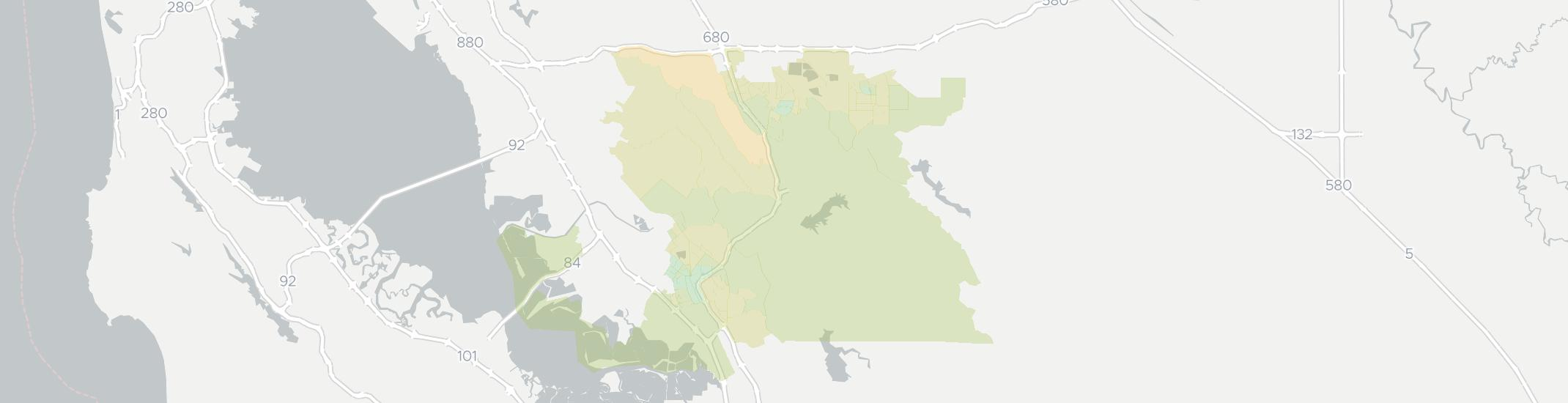 Sunol Internet Competition Map. Click for interactive map.