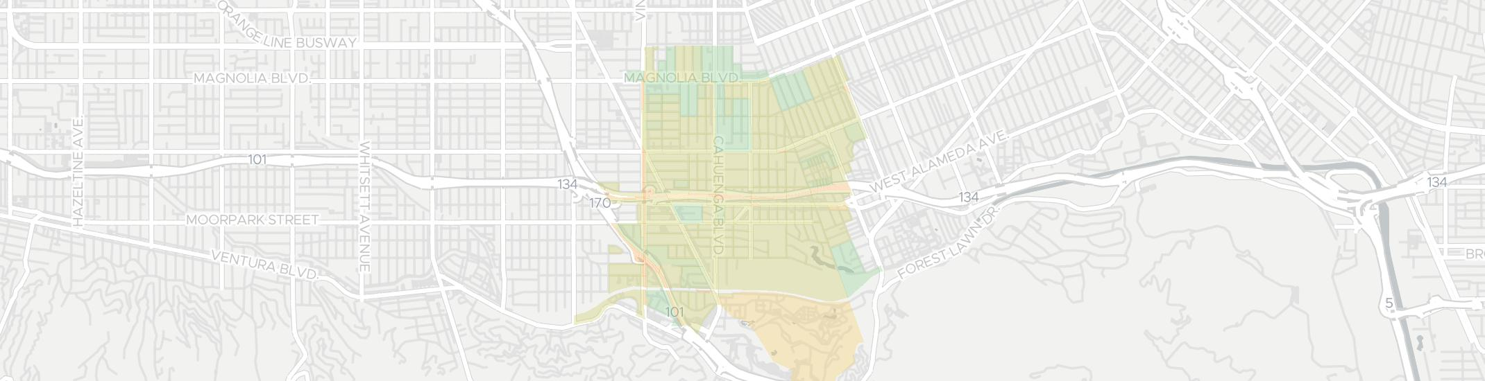 Toluca Lake Internet Competition Map. Click for interactive map.