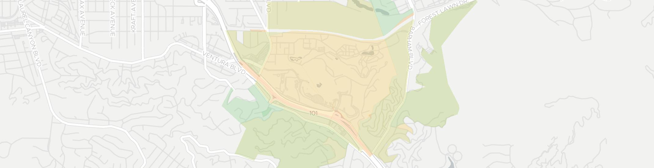 Universal City Internet Competition Map. Click for interactive map.