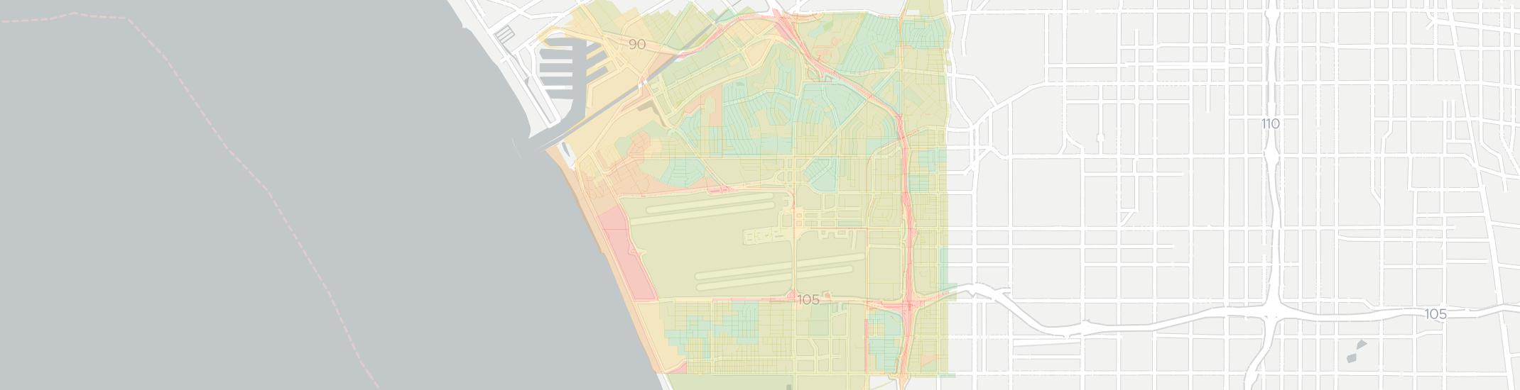 Westchester Internet Competition Map. Click for interactive map.