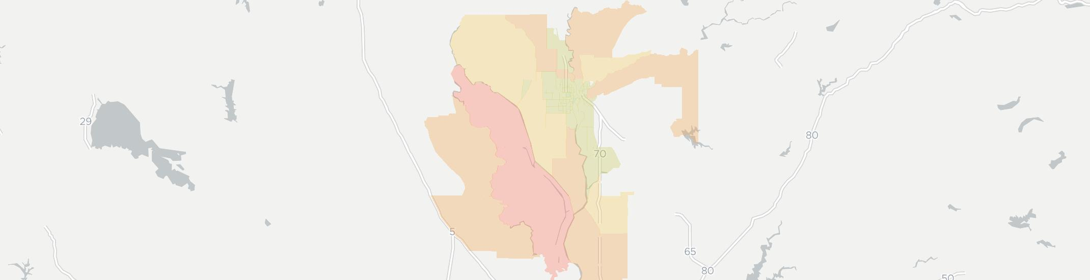 Yuba City Internet Competition Map. Click for interactive map.