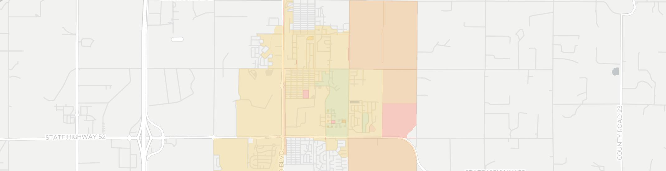 Frederick Internet Competition Map. Click for interactive map.