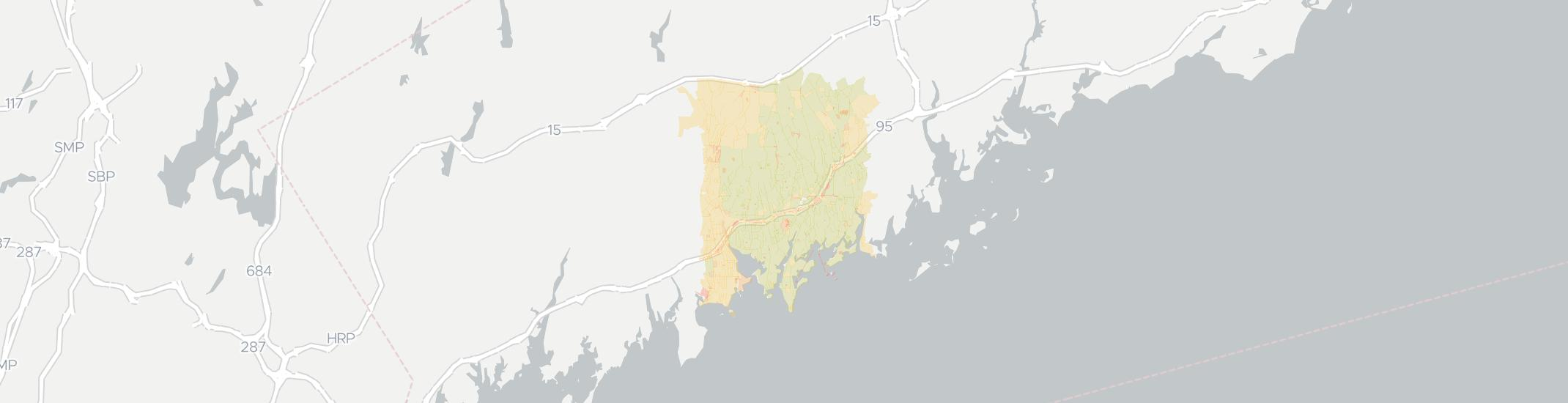 Darien Internet Competition Map. Click for interactive map.