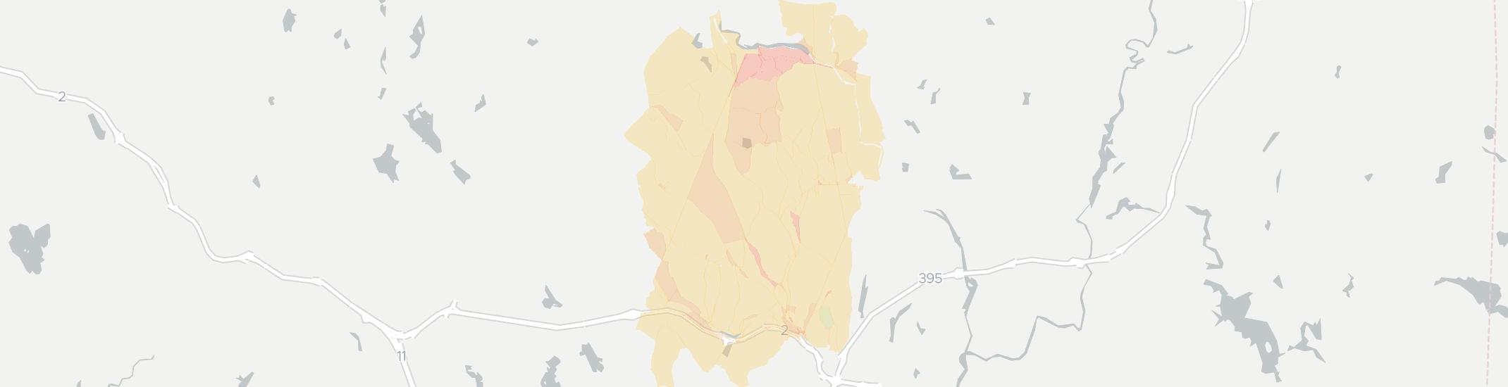 North Franklin Internet Competition Map. Click for interactive map.