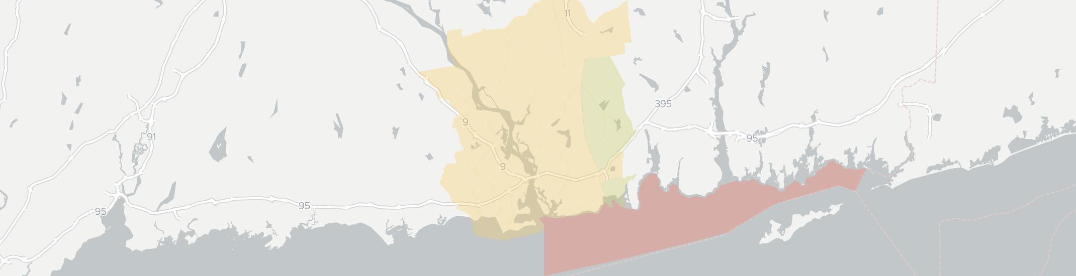 Old Lyme Internet Competition Map. Click for interactive map.