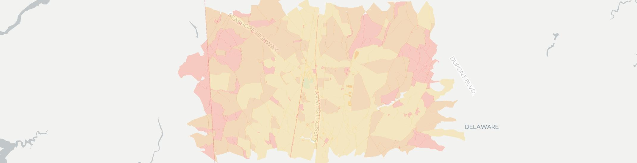 Bridgeville Internet Competition Map. Click for interactive map.