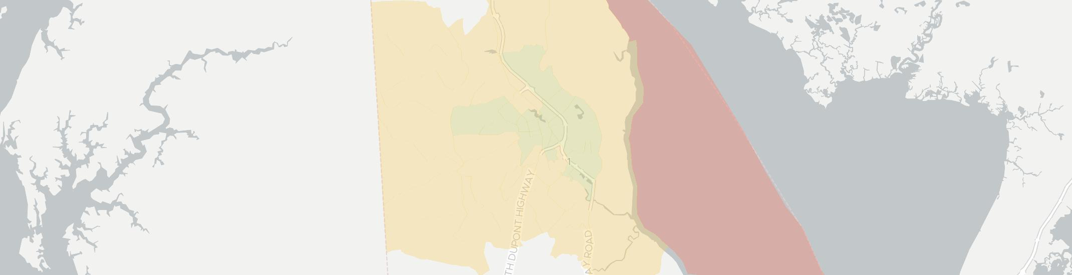 Dover Internet Competition Map. Click for interactive map.