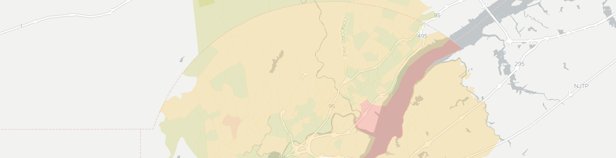Wilmington Internet Competition Map. Click for interactive map.