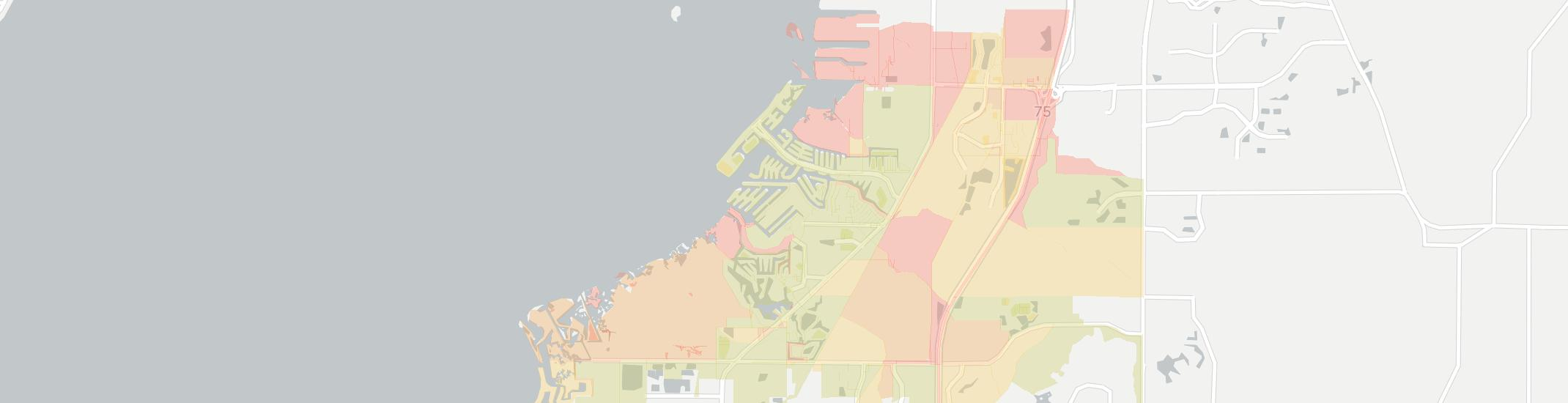 Apollo Beach Internet Competition Map. Click for interactive map.