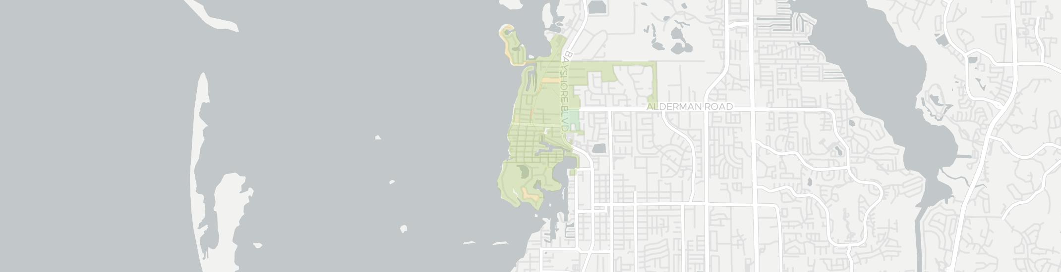 Crystal Beach Internet Competition Map. Click for interactive map.