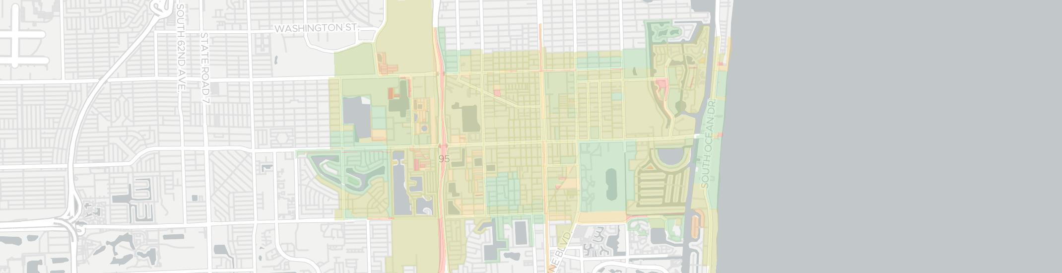 Hallandale Internet Competition Map. Click for interactive map.